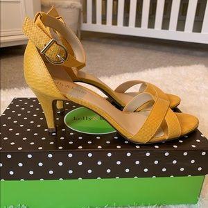 Kelly & Katie yellow strappy heels size 8.5